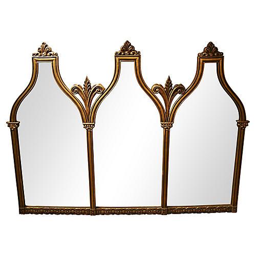 Oversize Italian Arch-Top Mirror