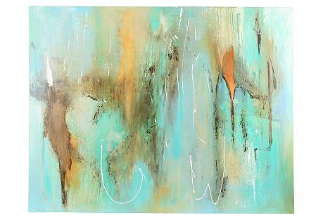 Oversized Acquamarine Painting