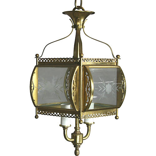 Filigree Bent Glass Lantern