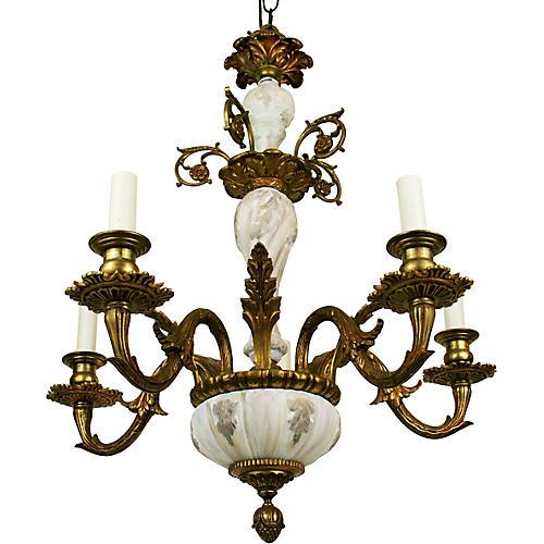 Porcelain Bronze Chandelier