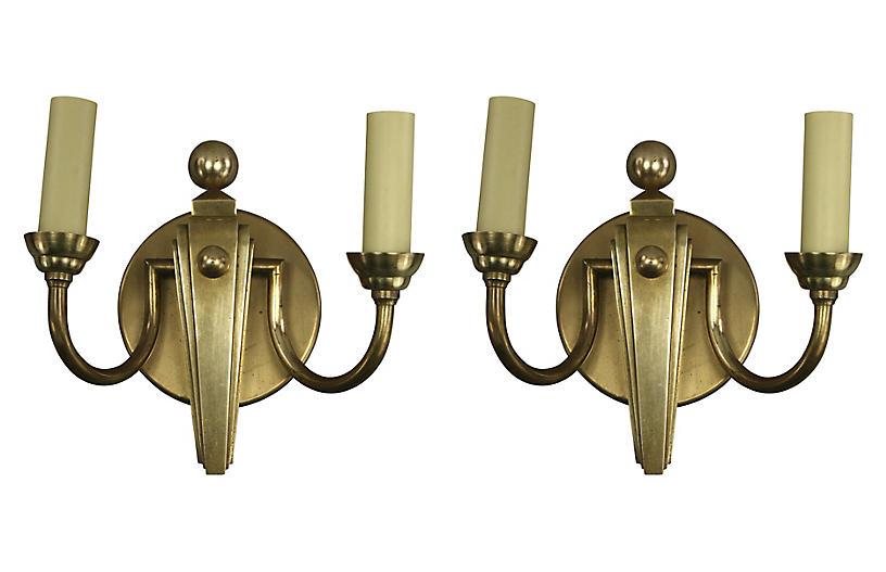 French Deco Sconces, Pair