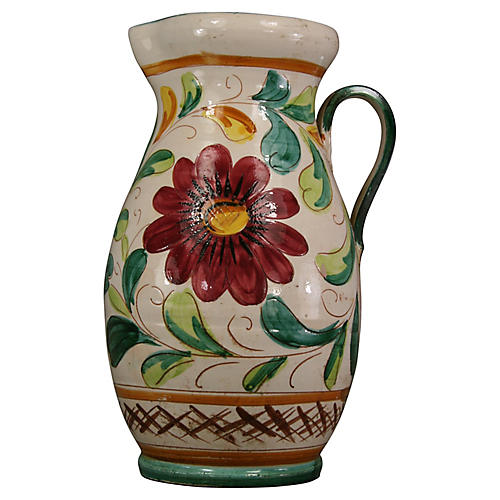 Oversize Italian Terracotta Pitcher