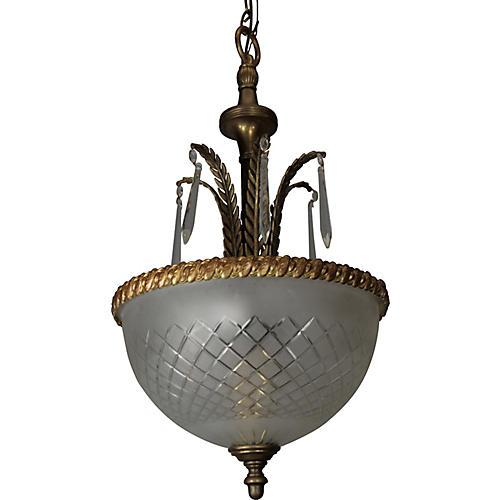 1920s Dome Pendant