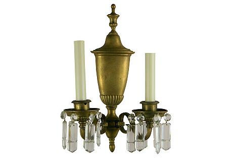 Brass Urn Sconces, S/2