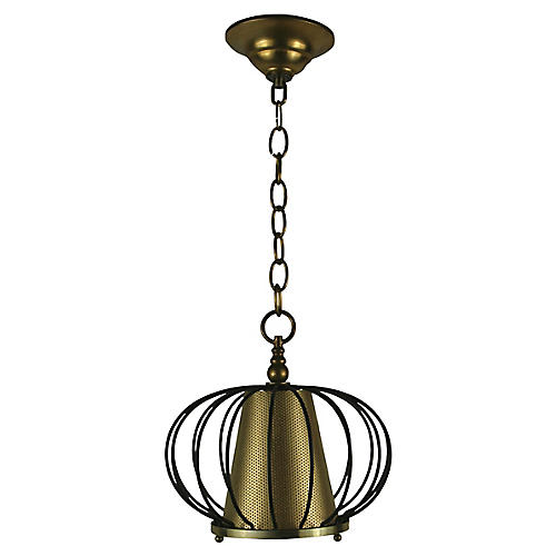 Black Brass Ceiling Fixture