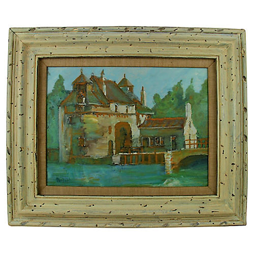 French Chateau Painting