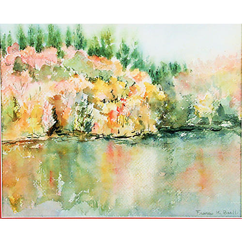 Reflections Watercolor by Buell