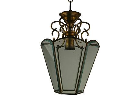 1920s Italian Glass Lantern