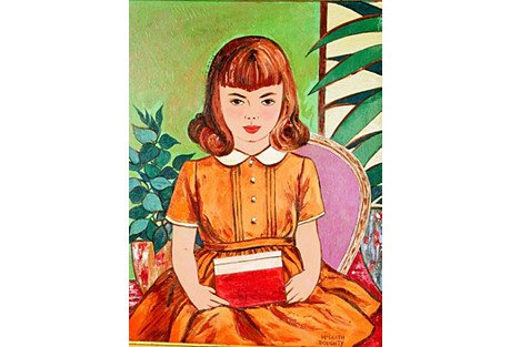 Girl w/ Red Book Portrait