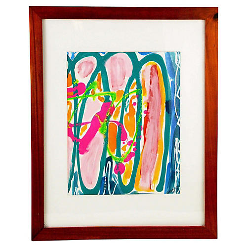Abstract Gouache by Bergamino