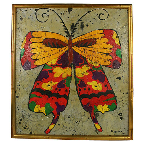Folk Butterfly Painting
