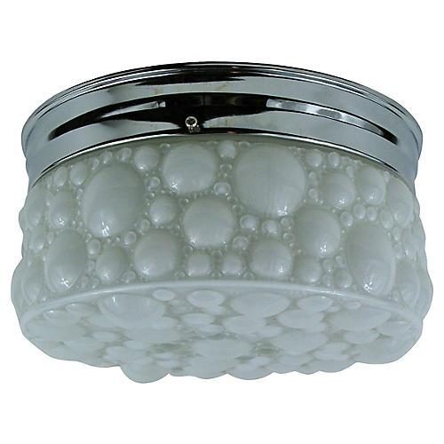 Bubble Milk Glass Flush Mount