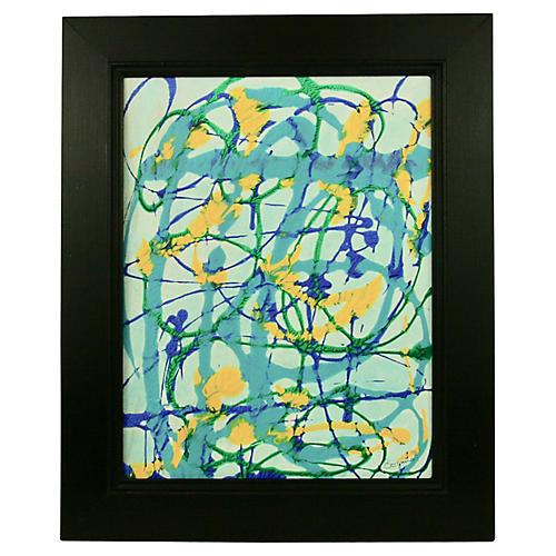 Blue Swirl Abstract