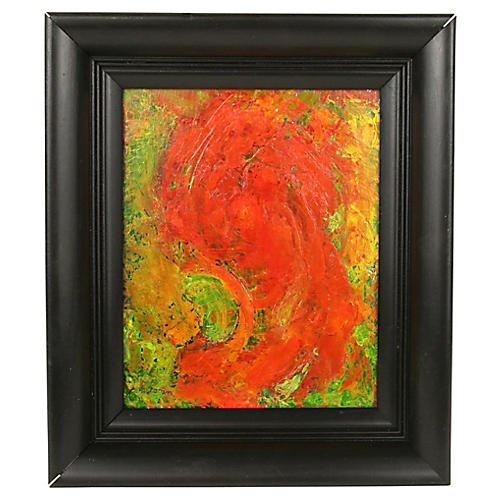 Abstract Profile Oil Painting