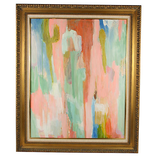 Pink & Green Abstract
