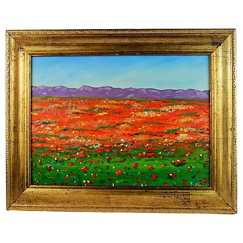 Orange Field Landscape