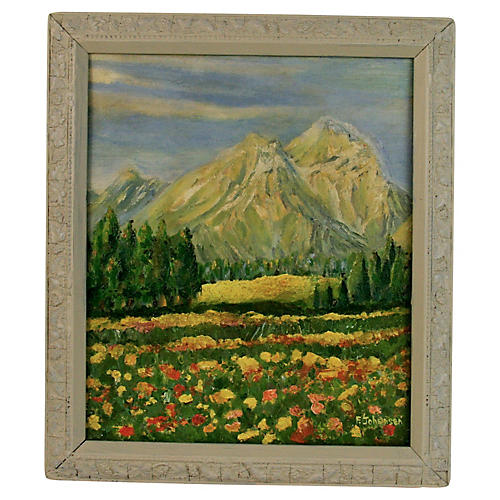 Alps Landscape Painting