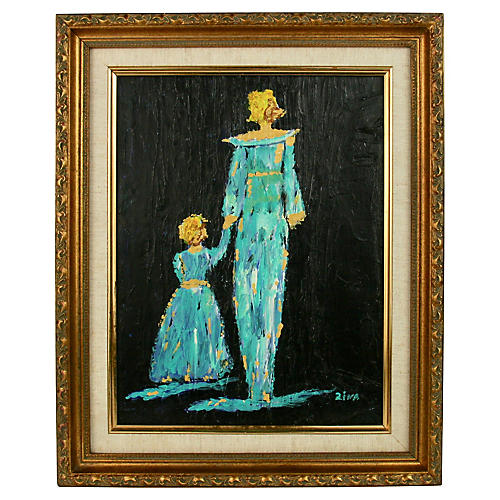Mother and Child Abstract Figurative