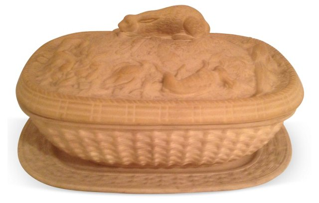 French Caneware   Game Dish