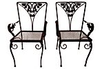 Kid's  Wrought Iron Chairs, Pair