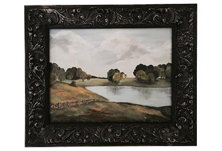 Framed Landscape Oil Painting*
