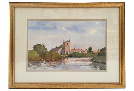 Framed English Watercolor