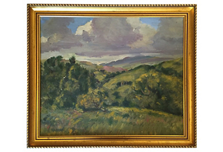 Framed English Oil Painting