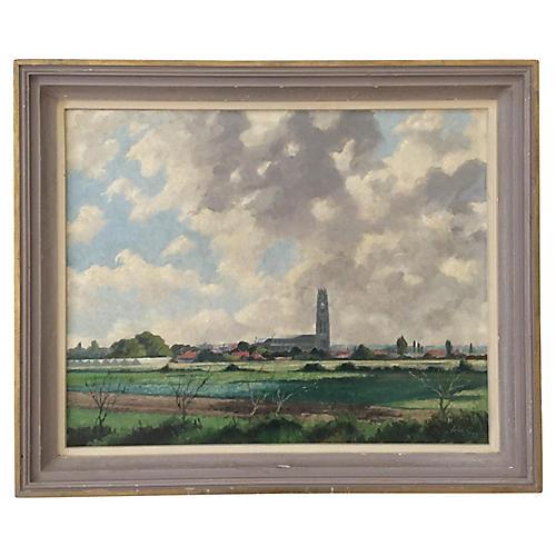 English Landscape Oil