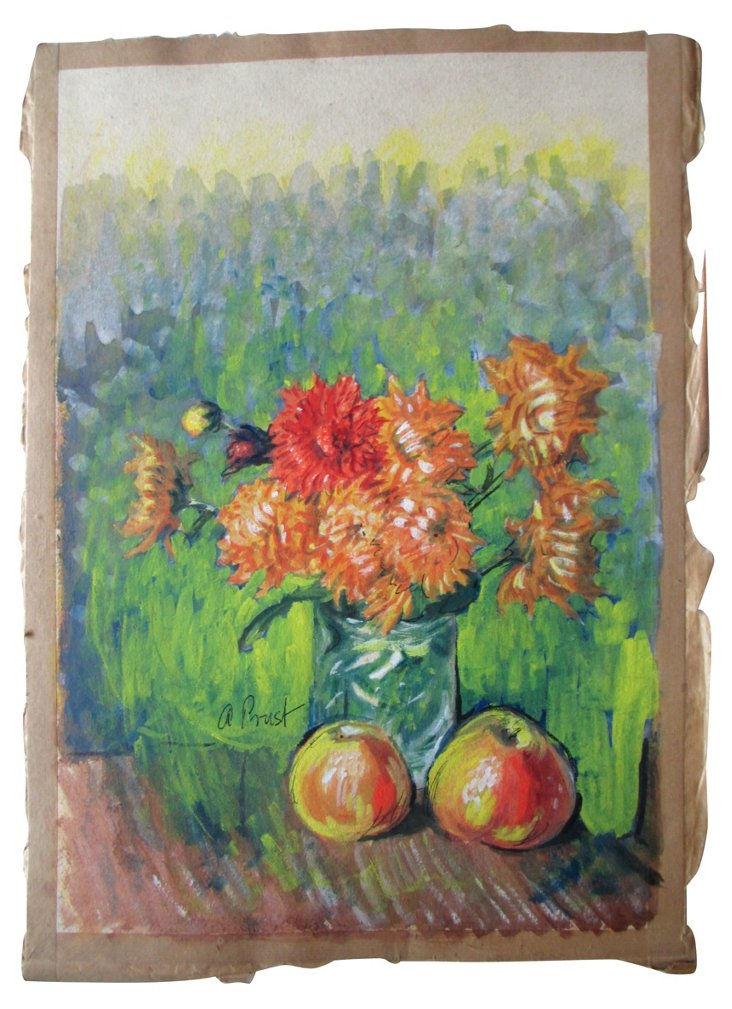 Chrysanthemums by A. Prust