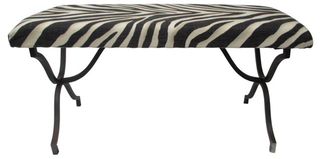 Zebra Iron Bench