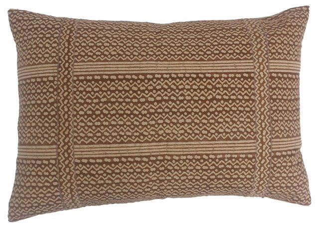 Banded Fortuny Tapa    Pillow