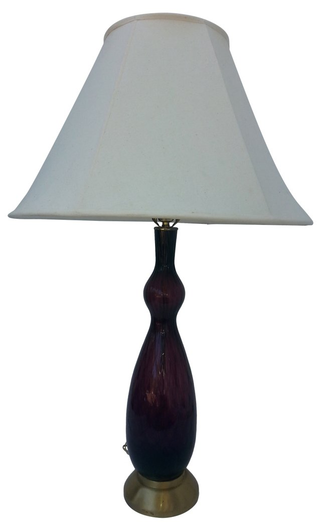 Italian Modern Glass Lamp