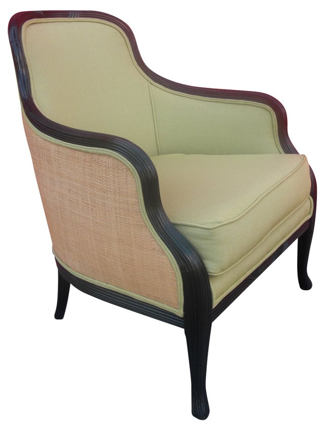 American Upholstered Barrel-Back Chair