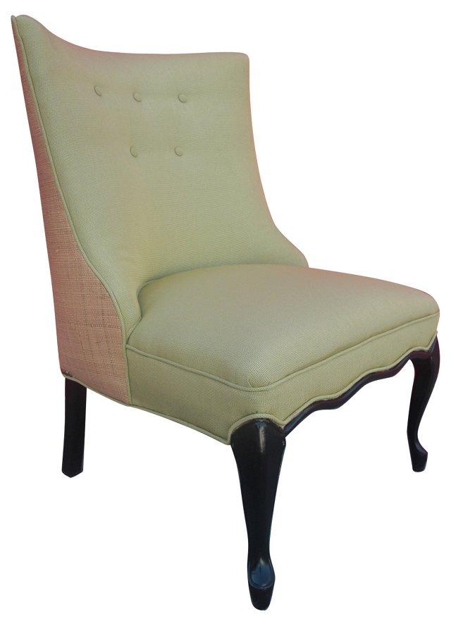 1960s   Upholstered Slipper Chair