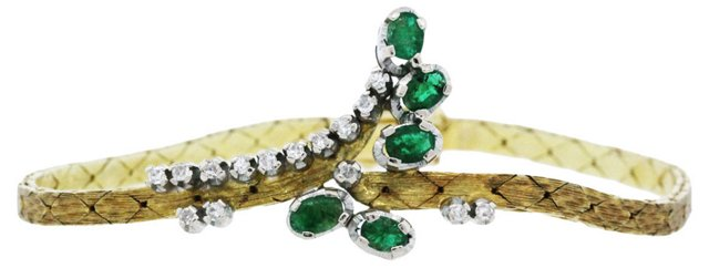 Diamond & Emerald C-Link Bracelet