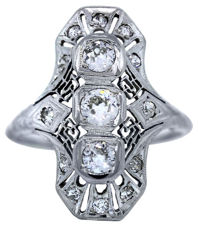Old European-Cut Diamond Ring