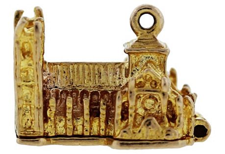 Gold Westminster Abbey Pendant