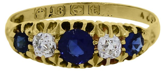 Gold, Diamond & Sapphire Ring