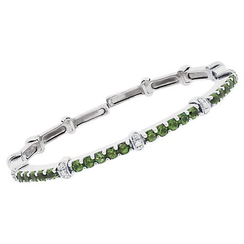 Diamond & Peridot Stackable Bracelet