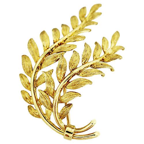 18K Gold Leaf Pin, Tiffany & Co.