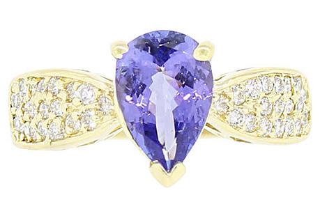 Gold & Diamond Tanzanite Ring