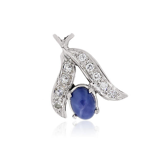 Gold & Diamond Linde Sapphire Pendant