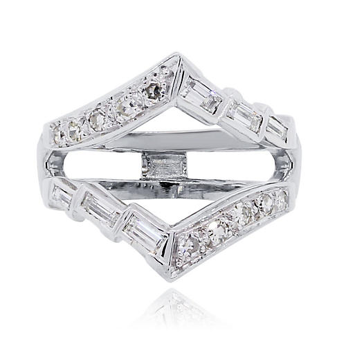 Gold & Baguette Diamond Ring Guard