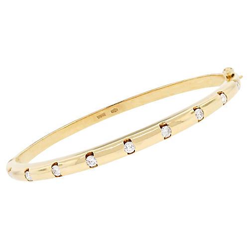 Yellow Gold 0.55ctw Diamond Bangle