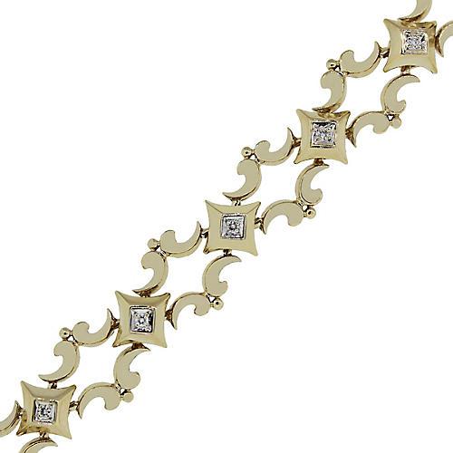 9K Gold & Diamond Bracelet