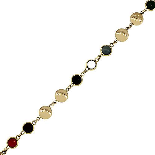 18k Yellow Gold Multicolor Bracelet
