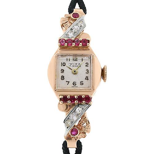 Wirz Rose Gold Antique Watch