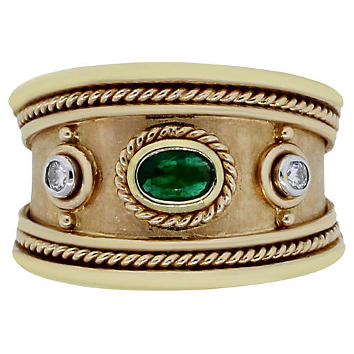 18K Gold & Emerald Ring