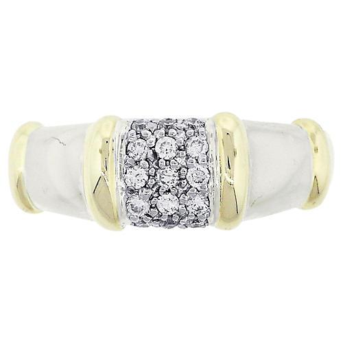 Diamond Pave Bamboo Style Ring