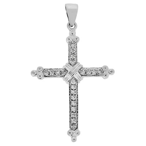 Gold, Diamond Cross Pendant